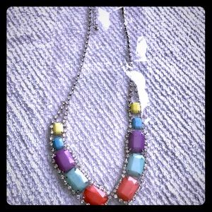 Silver Multi Color ❤️ Necklace and earring set